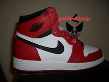 NIKE AIR JORDAN 1 RETRO HIGH OG BG CHICAGO WHITE BLACK RED 575441 101