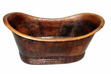 Mexican Copper Bathtub 'Grand Slipper' No rings 14 Gauge