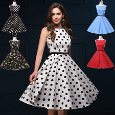 PLUS SIZE Jive Polka dot Swing 1950s SUMMER pinup Vintage Rockabilly Retro Dress
