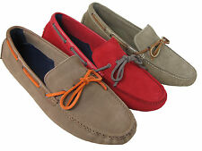 Cole Haan Mens Air Grant Red Tan Light Brown Suede Drivers Loafers Driving Shoes