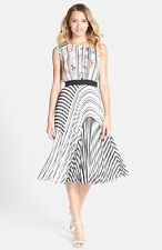 NEW BCBG MAX AZRIA KAITLYNN STRIPE-BLOCKED PLEATED DRESS Print Play