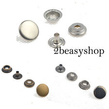 Heavy Duty Metal Snap Fasteners 15mm 15 Sets Longer Post Leather Craft Buttons