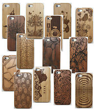 Real Natural Wood Bamboo Hard Back Wooden Case Cover For Apple iPhone 5 5S