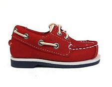Timberland Kids' Toddler's PEAKS ISLAND 2 EYE BOAT Shoes Red 6886R a2