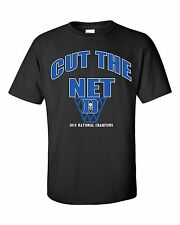 Duke Blue Devils 2015 Mens National Champions Cut The Net T-Shirt Adult SM-3XL
