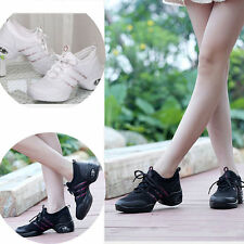 Women's Fashion Sneakers Modern Jazz Hip Hop Flat Dance Shoes Breathable Trainer