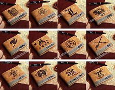 PU wallet of Anime Black Butler/ Death Note/Fairy Tail/ Naruto/One Piece Law ETC