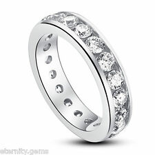 Eternity NSCD Simulated 3 Carat Round Cut Diamond Ring Engagement Wedding