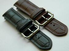 Watch Strap Replacement Genuine Calf Leather Embossed Brasil Alligator Pattern