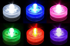 Submersible Waterproof Battery Operated LED Tea Lights Wedding Table Decorations