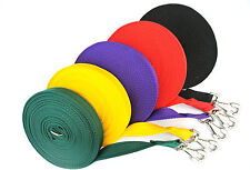 30ft/9m Horse Lunge Line/Large Dog Training Lead 25mm Various Cushioned Webbings