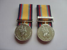 FULL SIZE OFFICIAL GULF WAR MEDALS COURT MOUNTED  MEDAL OFFICE APPROVED