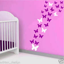 64 Butterfly Vinyl Wall Stickers, Wall decals, Bedroom , Nursery, Kids room,