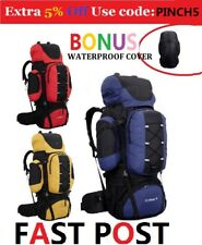 80L Backpacks Bag Camp Camping Hiking Travel Black BLUE YELLOW RED Backpack
