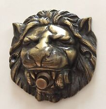 Large Solid Brass Lion Head Push Button Door Bell Lot of Finishes Doorbell