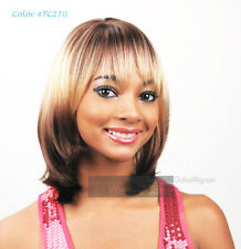 Junee Fashion Manhattan Style Synthetic Layered Straight with Bangs Ivan Wig
