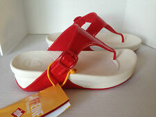 New Fit Flop Women's Superjelly Thong Sandal Red Color MSRP 59.00