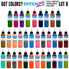 Intenze Tattoo Ink 4oz USA Genuine LEGIT Full Line of Colors - U PICK - LOT B