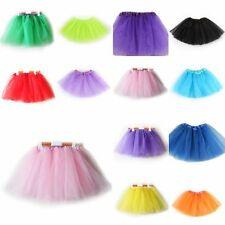 Kids Girls 3 Layer Tutu Ballet Dance Dress Skirt Tulle Full Pettiskirt Costume