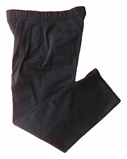 Red Kap Men's Work Pants Pleated Black Hook and Eye Closure Twill Slack PT38BK