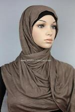 Slub Jersey Cotton Comfy Stretch Basic Shawl Hijab Head Scarf Choose Shade