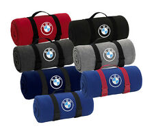 BMW Fleece Throw Blanket with Nylon Web Carrying Strap