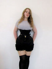 Locking Steel Boned Hessian lined Underbust CILICE Corset BLACK, UK FAST SHIP