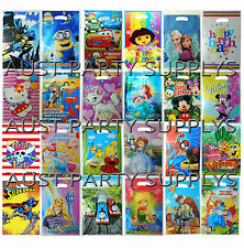PK6 KIDS BOYS GIRLS THEMED LOLLY BAG LOOT BAG BIRTHDAY PARTY SUPPLIES FAVORS