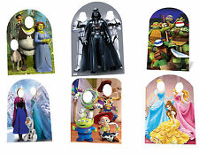 KIDS BIRTHDAY PARTY PHOTO STAND IN CUTOUT PROP - FROZEN, STAR WARS, TOY STORY
