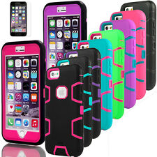PC Shockproof Dirt Dust Proof Hard Cover Case For iPhone 5 SE 5S 6 6S 6Plus
