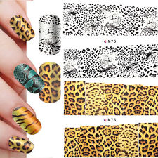 Wild Animal Water Transfer Nail Full Wrap Decals Nail Art Decoration Sticker Tip