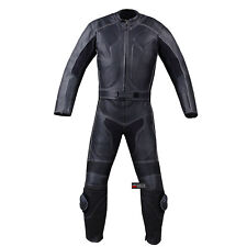 New Men's 2PC Motorcycle Leather Racing HUMP 2 PC Two Piece Armor Suit