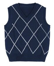 Gymboree Spring Dressy Windowpane Plaid Sweater Vest Navy 2T 3T MSRP $33 NWT
