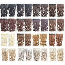 24'' Clip In Long Curly Synthetic 5 Clips Hairpiece Slice Hair Extensions MIC888