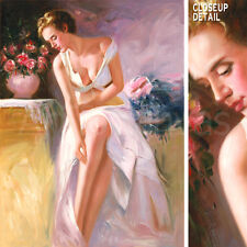 """36W""""x48H"""" ANGELICA - PINO DAENI-STYLE ORIGINAL HAND PAINTED OIL ON CANVAS"""