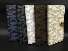 MICHAEL KORS LEATHER WALLET FLIP CASE COVER FOR SAMSUNG S5 - MK RETAIL BOXED