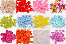 Lots100Pcs Plastic Sewing Buttons Scrapbook 15mm 2 Holes For Craft DIY