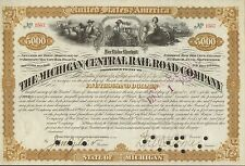 Michigan Central Railroad 1881 $5000 Emmigrant Industrial Savings Bank 3 Vigs