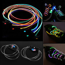1 Pair LED Light Flash Glow Stick Shoe Shoelaces Shoestring Strap String