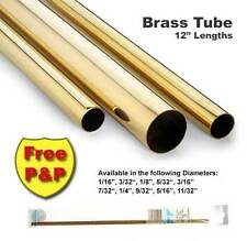 Brass Tube - Various Diameters ( between 1mm & 9mm ) - 305mm long