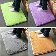Anti-slip Soft Absorbent Bath Bathroom Bedroom Floor Plush Mat Rug 5 Colors UK