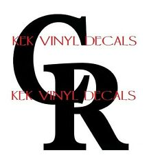 COLORADO ROCKIES VINYL DECAL-STICKER-CHOICE OF SIZE AND COLOR