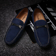 New Mens Soft Genuine Leather Flats Slip On Loafers Driving Moccasins Shoes