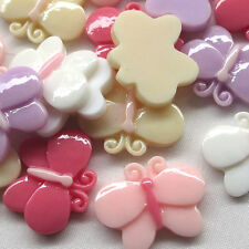 20/100pcs Kid's Baby Trojan Resin Flatbacks Buttons Scrapbooking Lots Bulk