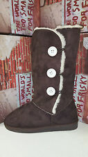 Frisky Dark Brown Faux Suede Women's Snow Winter Shoes Boots size 5-10 F9509
