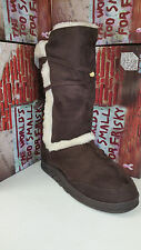 Frisky Dark Brown Faux Suede Women's Snow Winter Shoes Boots size 5-10 F9502