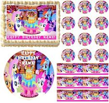 My Little Pony Birthday Edible Cake Topper or Cupcakes Frosting Sheet -All Sizes