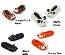 Girl Women Animal Slippers size 6 7 8 9 House Shoes Furry Warm Soft Tiger/Panda