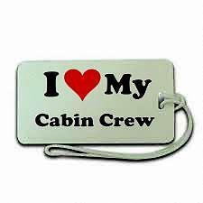 I love My Cabin Crew  Luggage  Tag NEW,airline , airport ,aircraft