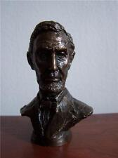 ABRAHAM LINCOLN US PRESIDENT PRESIDENTIAL BRONZE BUST FRANKLIN MINT 1977 STATUE